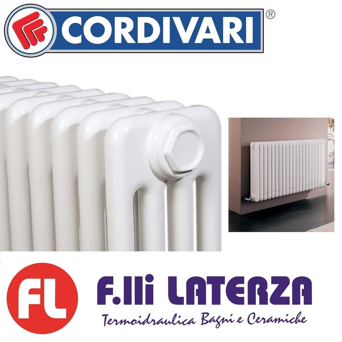 Radiatori In Alluminio O Acciaio radiatori in acciaio tubolare cordivari ardesia 4 colonne h.656 34 elementi  interasse 600 mm