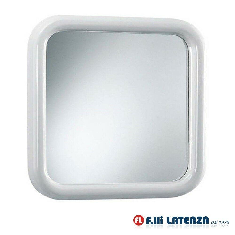 Specchio Bagno Bianco.Specchio Quadrato Silvia 50 X 50 Cm Serie Imma Accessori Bagno