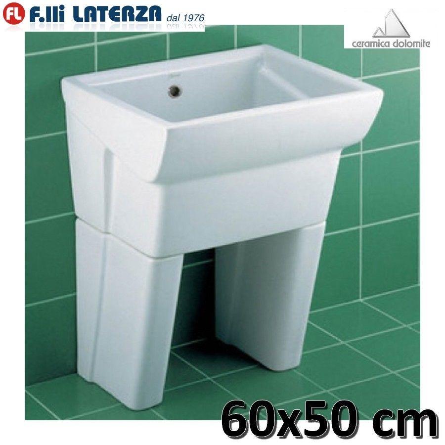 Pilozzo Lavanderia In Ceramica.Dettagli Su Lavatoio Per Lavanderia In Ceramica 60x50 Serie Messico Due 2 Dolomite Con Piedi